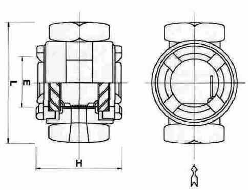 KSG2C / KSG3C: Flapper type in-line sight flow indicators
